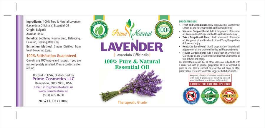 Inscrição nº 25 do Concurso para Design Product Label & refine existing logo: Essential Oil Bottle label