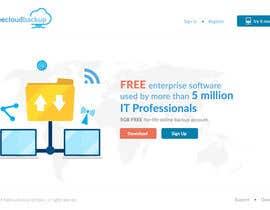 Nro 9 kilpailuun Design a Website Mockup for a single page website käyttäjältä leandeganos