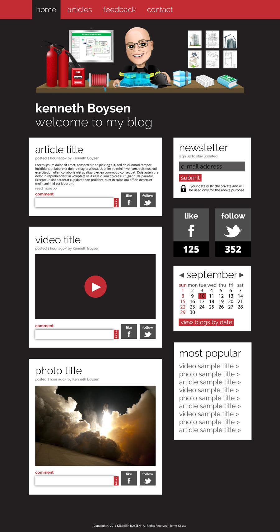 #2 for Personal blog design by Dzains