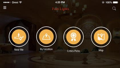 ankisethiya tarafından Design an App Mockup for Theatre Search için no 28