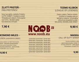 #1 untuk Design a Flyer for our e-shop NOOB.EU (gaming, movies, tv shows) oleh drugslobodan