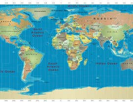 #15 cho Map of the world or map of the USA bởi fetra08