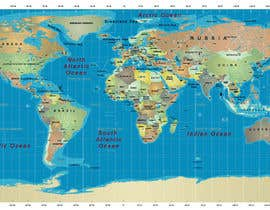 #17 cho Map of the world or map of the USA bởi fetra08