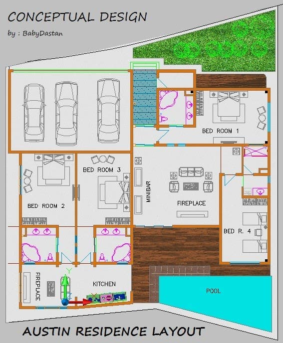 Penyertaan Peraduan #16 untuk Luxury Residential Home Design (Concept)