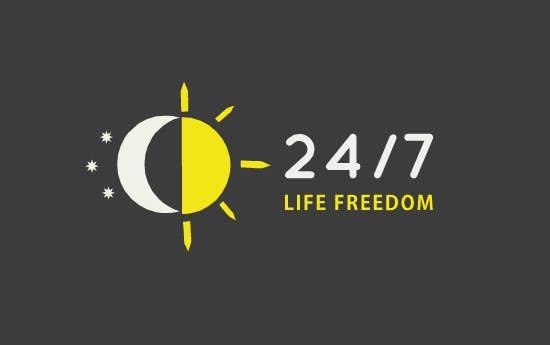 "Kilpailutyö #62 kilpailussa Design a Logo for ""24/7 Life Freedom"""