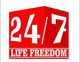 """Nro 54 kilpailuun Design a Logo for """"24/7 Life Freedom"""" käyttäjältä Monucamboz"""