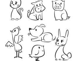 nº 82 pour Cute animal doodles par dikka