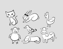 nº 97 pour Cute animal doodles par sandanimendis