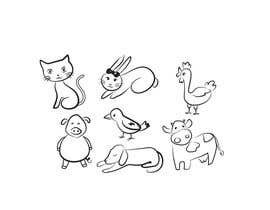 nº 106 pour Cute animal doodles par sandanimendis