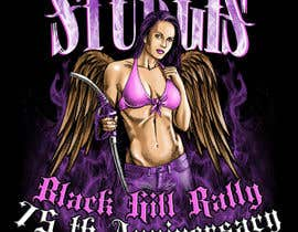 #68 for Design a (((LADIES))) T-Shirt for STURGIS 2015 75th Anniversary af dkv4arts