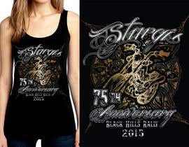 #53 for Design a (((LADIES))) T-Shirt for STURGIS 2015 75th Anniversary af WendyRV