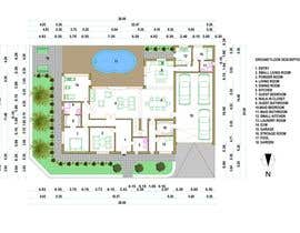 #49 for Floorplan for modern contemporary house by markoculibrk