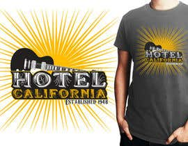 #106 para Vintage T-shirt Design for HOTEL CALIFORNIA por topcoder10