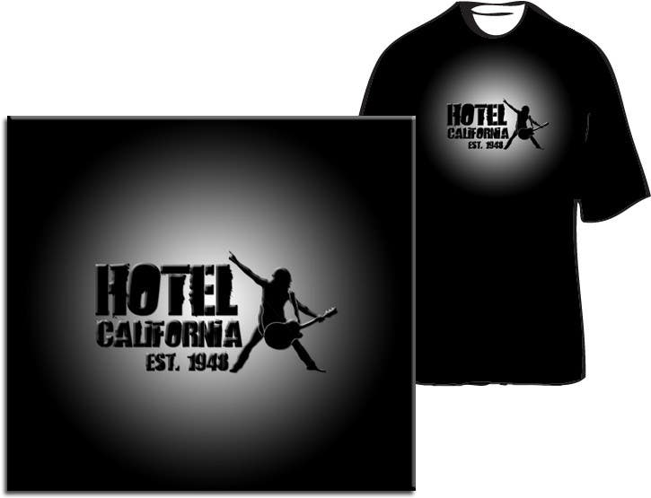 Entri Kontes #                                        21                                      untuk                                        Vintage T-shirt Design for HOTEL CALIFORNIA