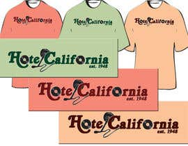 nº 74 pour Vintage T-shirt Design for HOTEL CALIFORNIA par jessitography