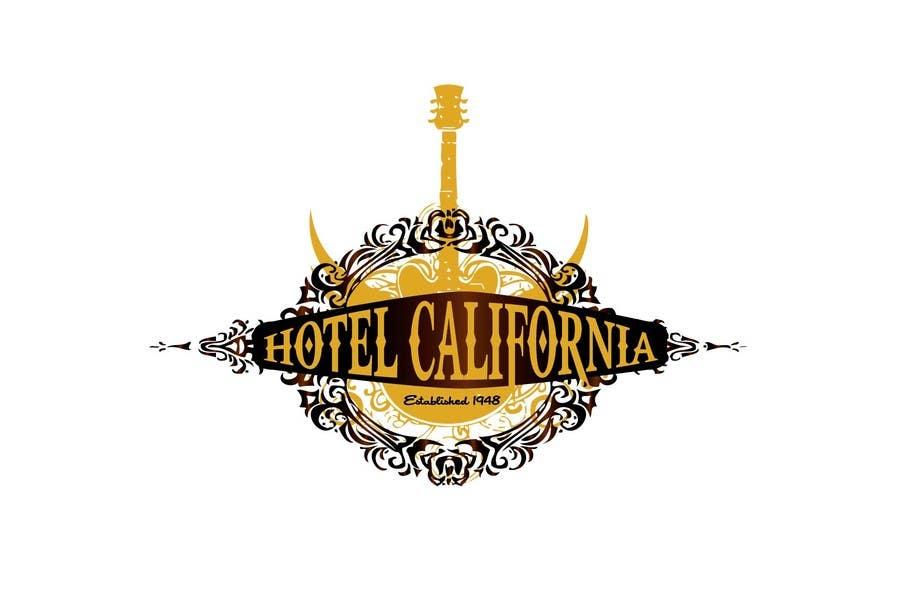 Entri Kontes #                                        89                                      untuk                                        Vintage T-shirt Design for HOTEL CALIFORNIA