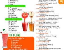 #6 untuk Design a menu for a juice stall oleh LampangITPlus