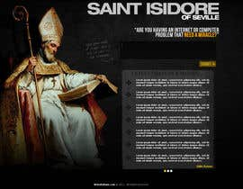 #7 for Graphic Design for One page web site for the Saint Of the Internet: St. Isidore of Seville af RockPumpkin