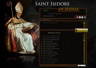 Graphic Design Contest Entry #19 for Graphic Design for One page web site for the Saint Of the Internet: St. Isidore of Seville