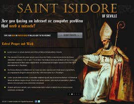 #16 za Graphic Design for One page web site for the Saint Of the Internet: St. Isidore of Seville od AnandLab