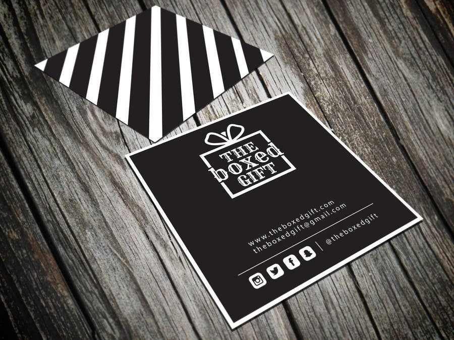 Bài tham dự cuộc thi #36 cho Design Social Media Business Cards for The boxed Gift