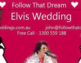 giorgadzeoto tarafından Design a Banner for Elvis Weddings -- 2 için no 7