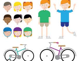 #11 para Cartoon & character design: Inclusive cycling program por rebeckanova