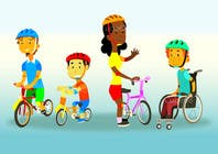 Graphic Design Inscrição do Concurso Nº10 para Cartoon & character design: Inclusive cycling program