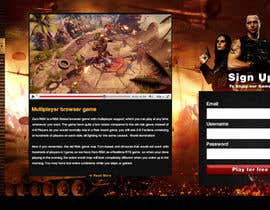 #24 for Design a Website Mockup for RTS Browser Game by greenarrowinfo