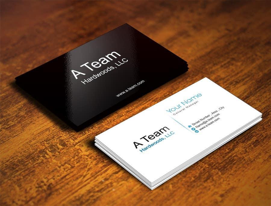 Penyertaan Peraduan #5 untuk Design some Business Cards for A Team Hardwoods