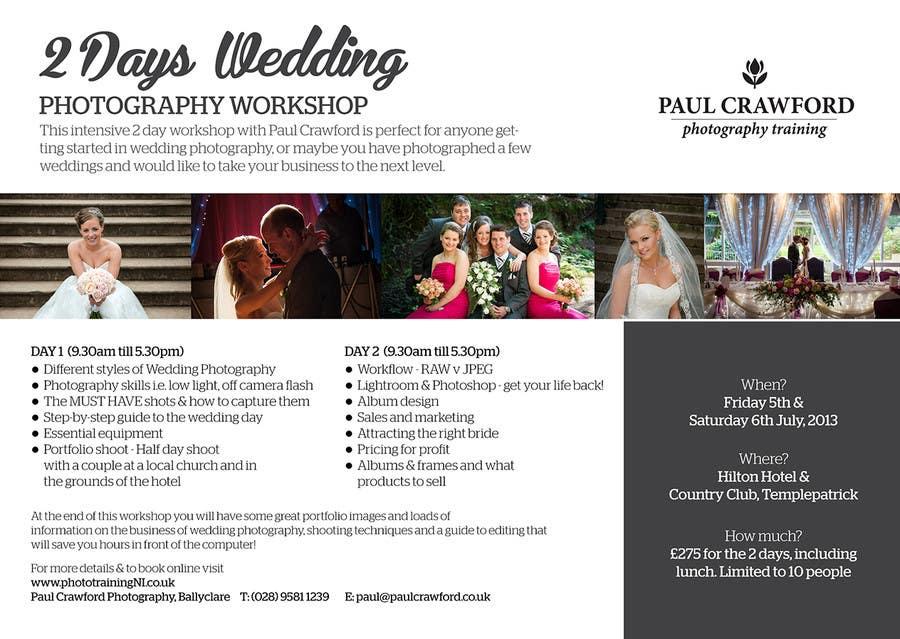 Bài tham dự cuộc thi #                                        11                                      cho                                         Design a Flyer for my wedding photography workshops