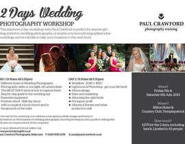 #11 untuk Design a Flyer for my wedding photography workshops oleh Quicketch