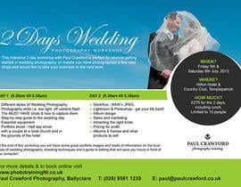 #23 untuk Design a Flyer for my wedding photography workshops oleh Quicketch