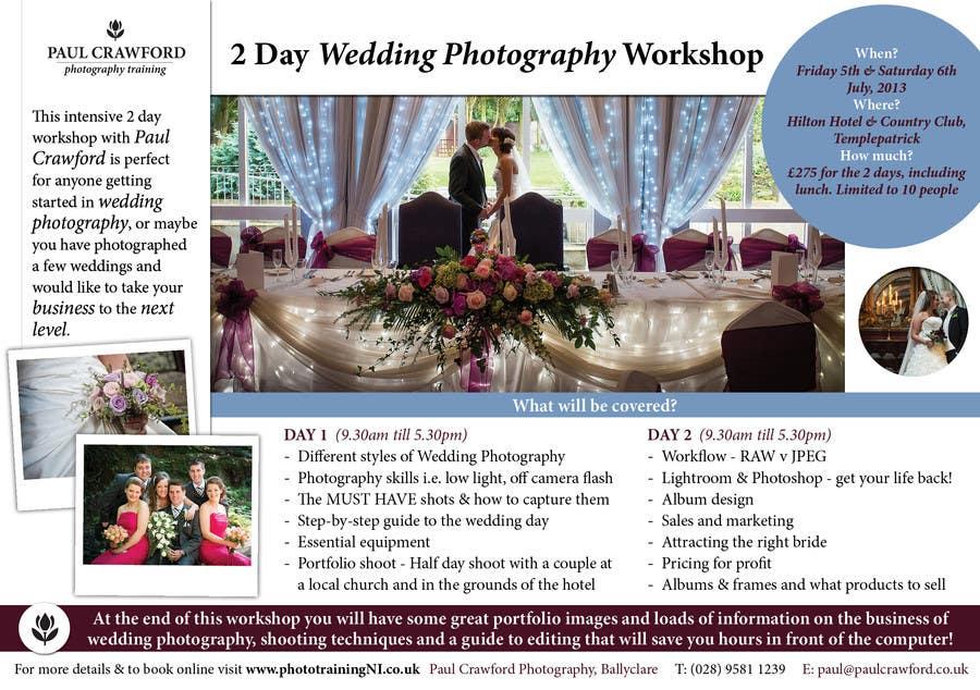 Bài tham dự cuộc thi #                                        29                                      cho                                         Design a Flyer for my wedding photography workshops