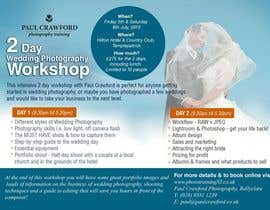 #2 cho Design a Flyer for my wedding photography workshops bởi earlybirdvw