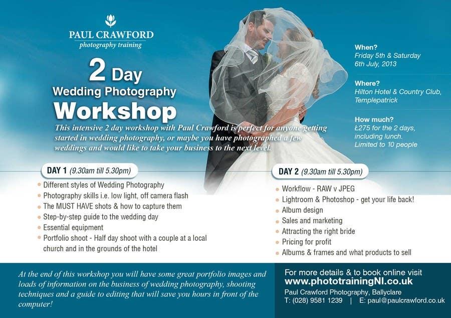 Penyertaan Peraduan #25 untuk Design a Flyer for my wedding photography workshops