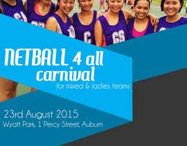 #23 cho Design a Flyer for Netball Carnival bởi rijulg