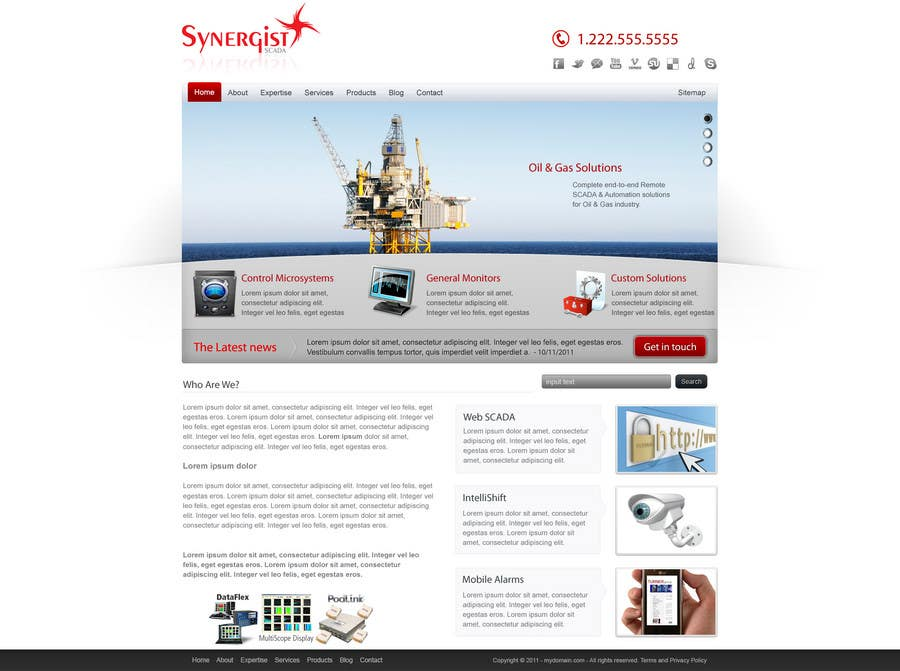 Contest Entry #                                        20                                      for                                         Wordpress Theme Design for Synergist SCADA INC