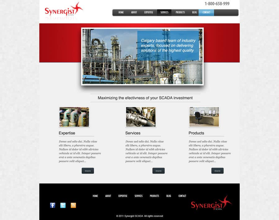 Contest Entry #                                        42                                      for                                         Wordpress Theme Design for Synergist SCADA INC