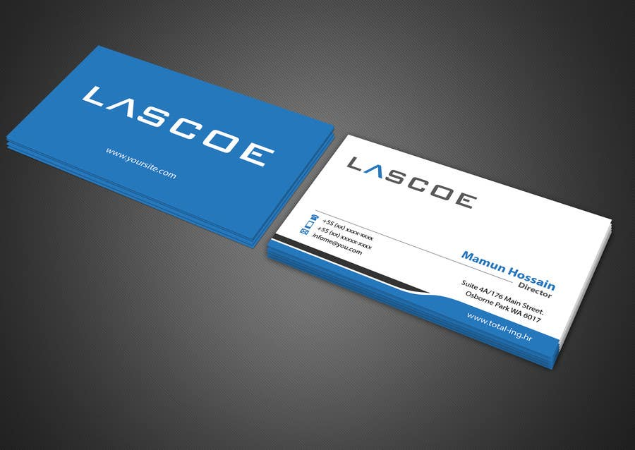 Entry 85 By Mamun313 For Design Some Business Cards For My Company