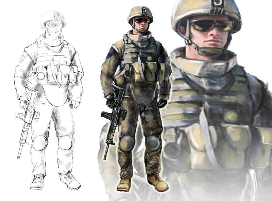 Bài tham dự cuộc thi #                                        2                                      cho                                         Soldiers VS Terrorists Concept Art