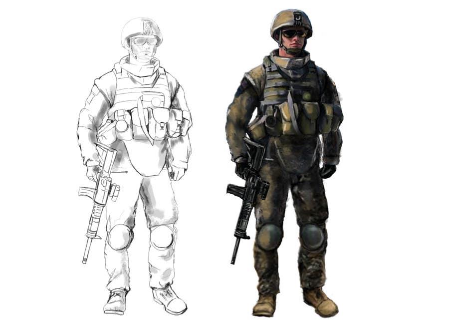 Bài tham dự cuộc thi #                                        3                                      cho                                         Soldiers VS Terrorists Concept Art