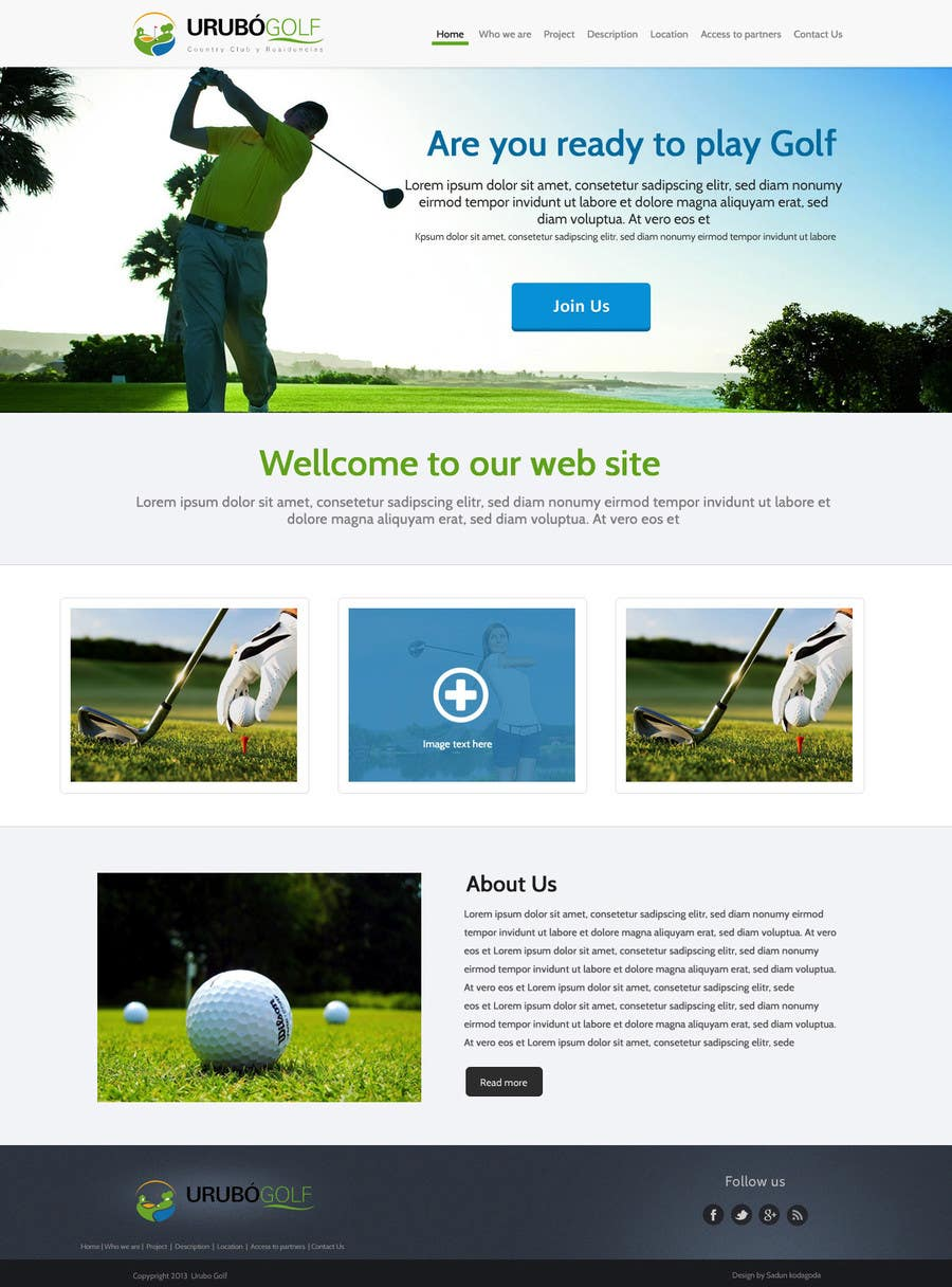 #32 for Urubo Golf Design by SadunKodagoda