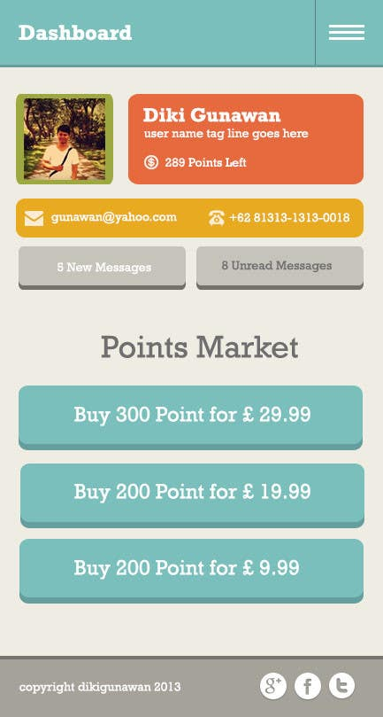 #8 for Design a set of HTML5 Mobile templates by dikigunawan