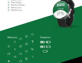 #4 para Android Watch face designed around Saudi Arabia's flag por photogra