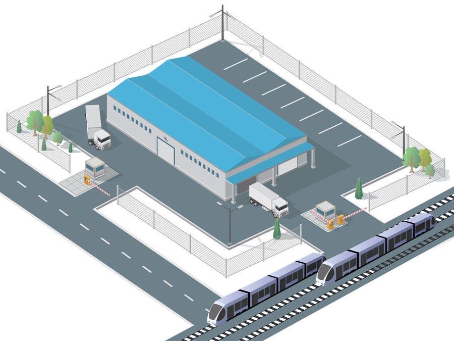Bài tham dự cuộc thi #24 cho illustrate flow of trains and trucks