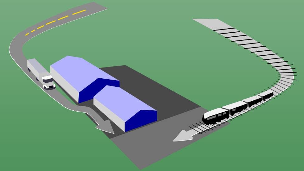 Bài tham dự cuộc thi #18 cho illustrate flow of trains and trucks