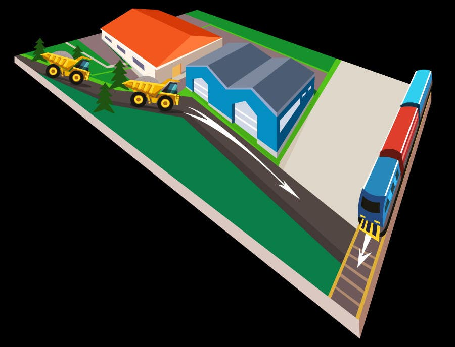 Bài tham dự cuộc thi #33 cho illustrate flow of trains and trucks