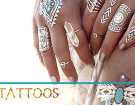 AlenaPolyah tarafından Design a Banner for Fashion Jewelry- Metallic Tattoos için no 157