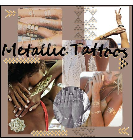 Contest Entry #46 for Trend Board/ Collage for our Featured Trend- Metallic Tattoos